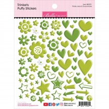 Bella Blvd Besties Trinkets Pickle Juice & Guacamole Green Puffy Stickers BB2291