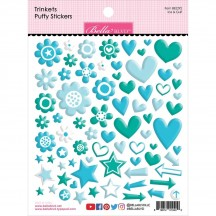 Bella Blvd Besties Trinkets Ice & Gulf Green Blue Puffy Stickers BB2292