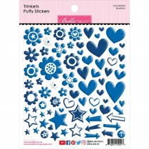 Bella Blvd Besties Trinkets Blueberry Blue Puffy Stickers BB2293