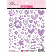 Bella Blvd Besties Trinkets Plum Purple Puffy Stickers BB2294