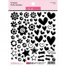 Bella Blvd Besties Trinkets Black Puffy Stickers BB2295