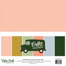 "Echo Park Coffee & Friends 12""x12"" Solids Paper Kit CF230015"