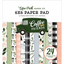 "Echo Park Coffee & Friends 6""x6"" Double-Sided Paper Pad CF230023"
