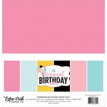 "Echo Park Magical Birthday Girl 12""x12"" Solids Paper Kit MBG231015"