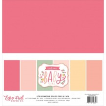 "Echo Park Welcome Baby Girl 12""x12"" Solids Paper Kit WBG233015"