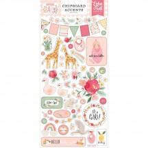 Echo Park Welcome Baby Girl Self Adhesive Chipboard Accents Stickers WBG233021