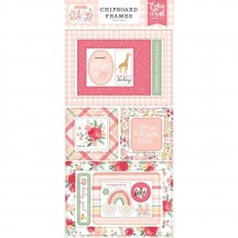 Echo Park Welcome Baby Girl Self Adhesive Chipboard Frames Stickers WBG233065