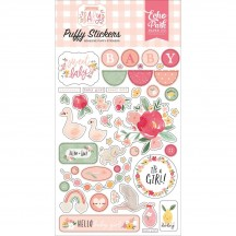 Echo Park Welcome Baby Girl Puffy Icon Stickers WBG233066