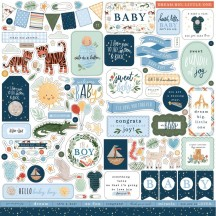 "Echo Park Welcome Baby Boy 12""x12"" Element Shape Stickers WBB234014"
