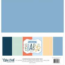 "Echo Park Welcome Baby Boy 12""x12"" Solids Paper Kit WBB234015"