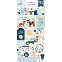Echo Park Welcome Baby Boy Self Adhesive Chipboard Accents Stickers WBB234021