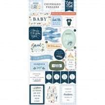 Echo Park Welcome Baby Boy Self Adhesive Chipboard Phrases Stickers WBB234022
