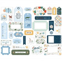 Echo Park Welcome Baby Boy Frames & Tags Ephemera Die Cut Cardstock Pieces WBB234025