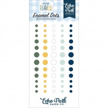 Echo Park Welcome Baby Boy Enamel Dots green navy white yellow WBB234028