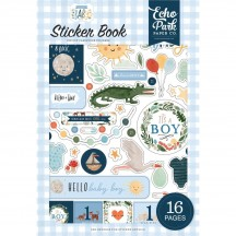Echo Park Welcome Baby Boy Sticker Book WBB234029