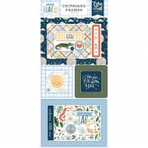 Echo Park Welcome Baby Boy Self Adhesive Chipboard Frames Stickers WBB234065