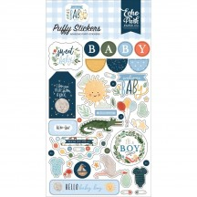 Echo Park Welcome Baby Boy Puffy Icon Stickers WBB234066