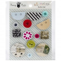Fancy Pants Me-Ology Button Embellishments 2346