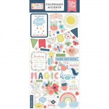 Echo Park Little Dreamer Girl Self Adhesive Chipboard Accents Stickers LD237021