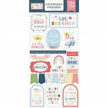 Echo Park Little Dreamer Girl Self Adhesive Chipboard Phrases Stickers LD237022