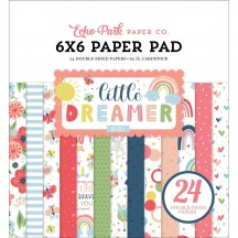 """Echo Park Little Dreamer Girl 6""""x6"""" Double-Sided Paper Pad LD237023"""