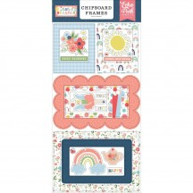 Echo Park Little Dreamer Girl Self Adhesive Chipboard Frames Stickers LD237065