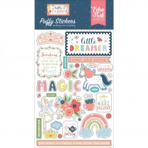 Echo Park Little Dreamer Girl Puffy Icon Stickers LD237066