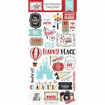 Echo Park A Magical Place Self Adhesive Chipboard Phrases Stickers AMP239022