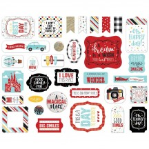 Echo Park A Magical Place Ephemera Die Cut Cardstock Pieces AMP239024