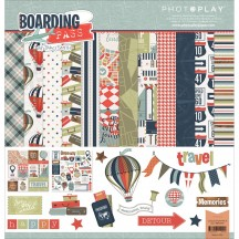 "Photoplay Boarding Pass 12""x12"" Collection Pack BP2490"