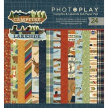 "Photoplay Campfire & Lakeside 6""x6"" Double-Sided Paper Pad CL2522"