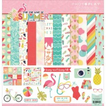 """Photoplay For The Love Of Summer 12""""x12"""" Collection Pack FS2534"""