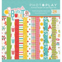 "Photoplay Summer Bucket List 6""x6"" Double-Sided Paper Pad BL2566"