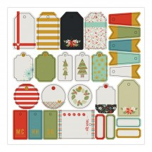 Fancy Pants Merry & Bright Tags Pack Die-Cut Christmas Pieces 2723