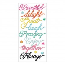 Fancy Pants Designs Joy Parade Sentiments Puffy Stickers 2751