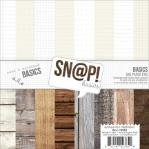 """Simple Stories Snap Wood & Notebook Basics 6""""x6"""" Paper Pad 2853"""