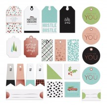 Fancy Pants Holiday Hustle Tags & Labels Pack Die-Cut Christmas Pieces 2858