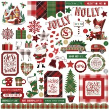 "Photoplay Mad 4 Plaid Christmas 12""x12"" Element Shape Stickers MPC2875"