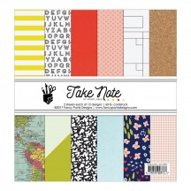 "Fancy Pants Take Note 6""x6"" Paper Pad 36 sheets 2877"