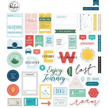 Pinkfresh Studio Out and About Die-Cut Cardstock Ephemera Pack RC300419