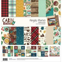 """Simple Stories Cabin Fever 12""""x12"""" Collection Kit 3030"""