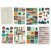Simple Stories Cabin Fever Stickers 3047
