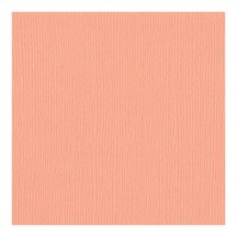 "Bazzill Basics Coral Cream Canvas 12""x12"" Cardstock Bulk Pack 305048"