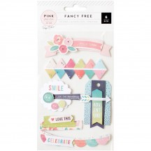 Pink Paislee Paige Evans - Fancy Free Layered Stickers 310218