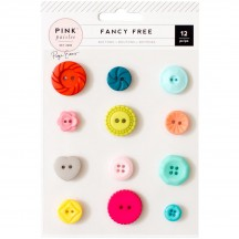 Pink Paislee Paige Evans - Fancy Free Buttons 310220