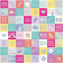 "Pink Paislee Summer Lights Holographic Cardstock 12""x12"" Paper 310265"