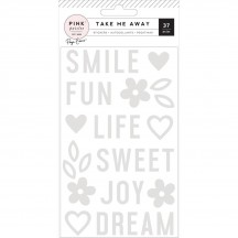 Pink Paislee Paige Evans - Take Me Away Acrylic Stickers 310427