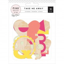 Pink Paislee Paige Evans - Take Me Away Wood Ephemera 310429