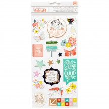 Pink Paislee Paige Evans Turn The Page Chipboard Accent & Phrase Thickers 310575