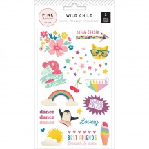 Pink Paislee Wild Child Girl Colour Rub-Ons 310598